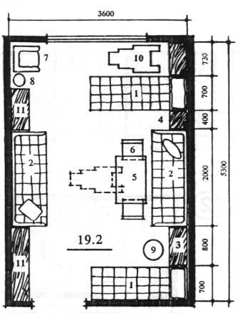 Планировочная схема спальной