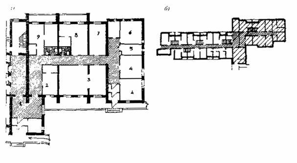 фрагмент плана первого этажа специального жилого дома с обслуживанием. схема плана жилого дома.