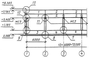 Примеры выполнения схем расположения элементов сборных конструкций .
