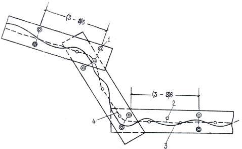 Рис.1. Схема расположения опознаков для обоснования маршрутов аэрофотосъемки при изысканиях новых линий.