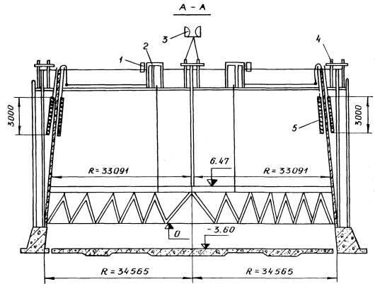 Лист 10.  Схема электрообогрева гиперболической градирни.  1 - блок - приставка АРТ-2; 2 -трансформаторная подстанция...