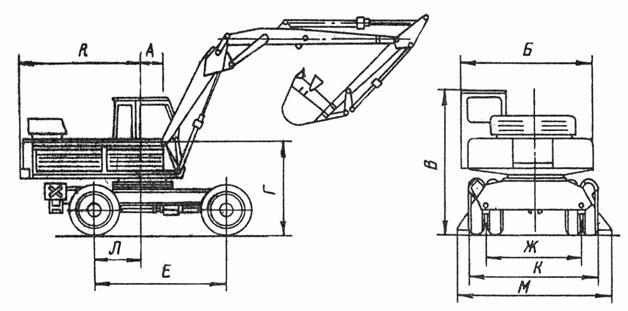 Схема экскаватора ЭО-3322Б