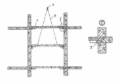 4 - крюк монтажного крана. строп.  Рис. 18 .  Схема монтажа опорного днища.