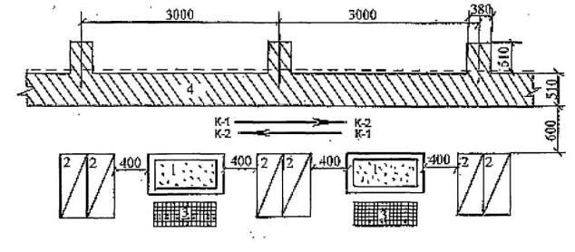 4.3 Организация рабочего места. для возведения 2-го яруса стены устанавливают подмости, и кладка ведется в...
