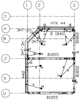 Рис.8.Схема временного крепления сборных элементов.  Особенность монтажа второго этажа на монолитном...