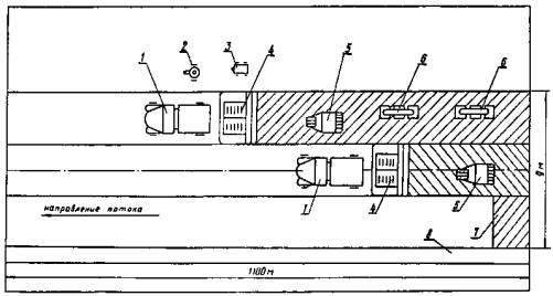 При устройстве покрытия из горячей среднезернистой асфальтобетонной смеси выполняют следующие работы (рис. 8) .