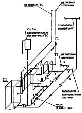 КЧМ-2-8 - котел системы ГВС.  Принципиальная схема обвязки двухфункционального котла...  VertiCell-HG.