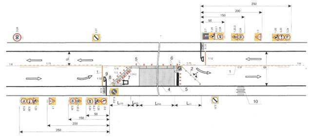 ...Движения при проектировании схемы организации движения и ограждения мест производства дорожных работ.